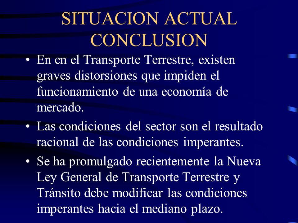 SITUACION ACTUAL CONCLUSION