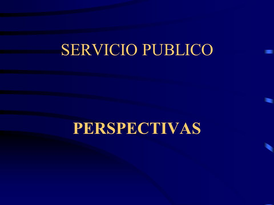 SERVICIO PUBLICO PERSPECTIVAS