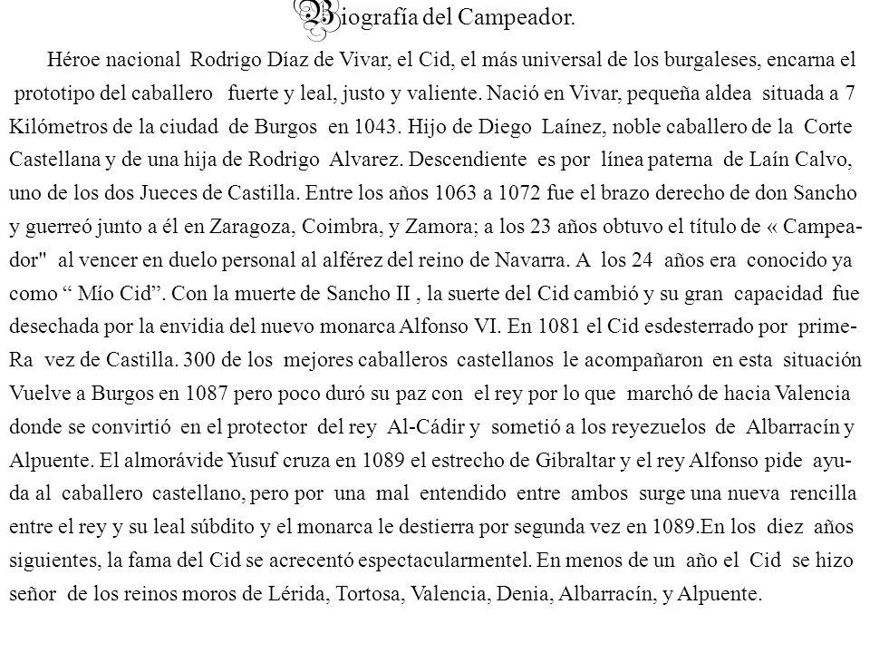 Biografía del Campeador.