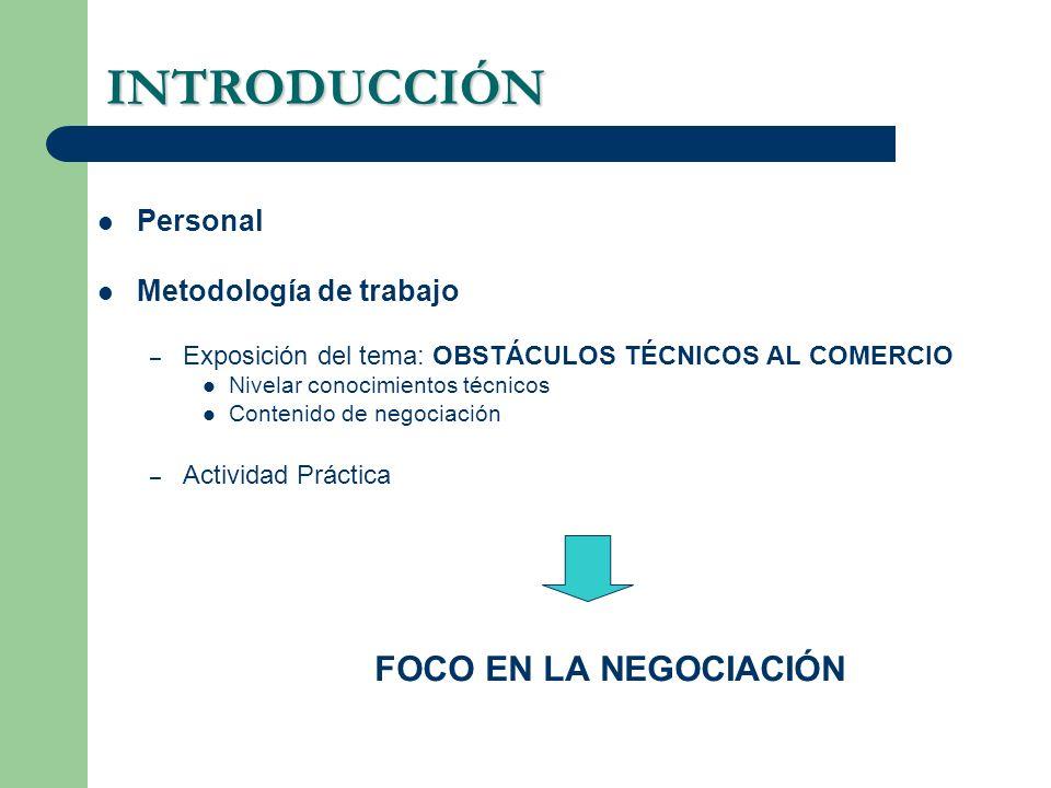 INTRODUCCIÓN FOCO EN LA NEGOCIACIÓN Personal Metodología de trabajo