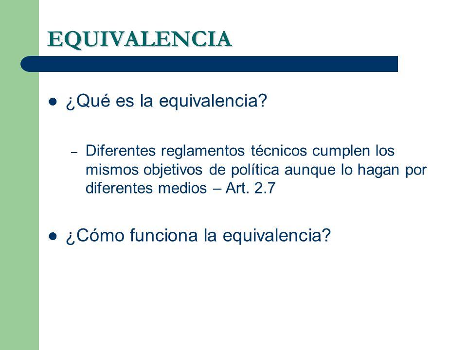 EQUIVALENCIA ¿Qué es la equivalencia ¿Cómo funciona la equivalencia