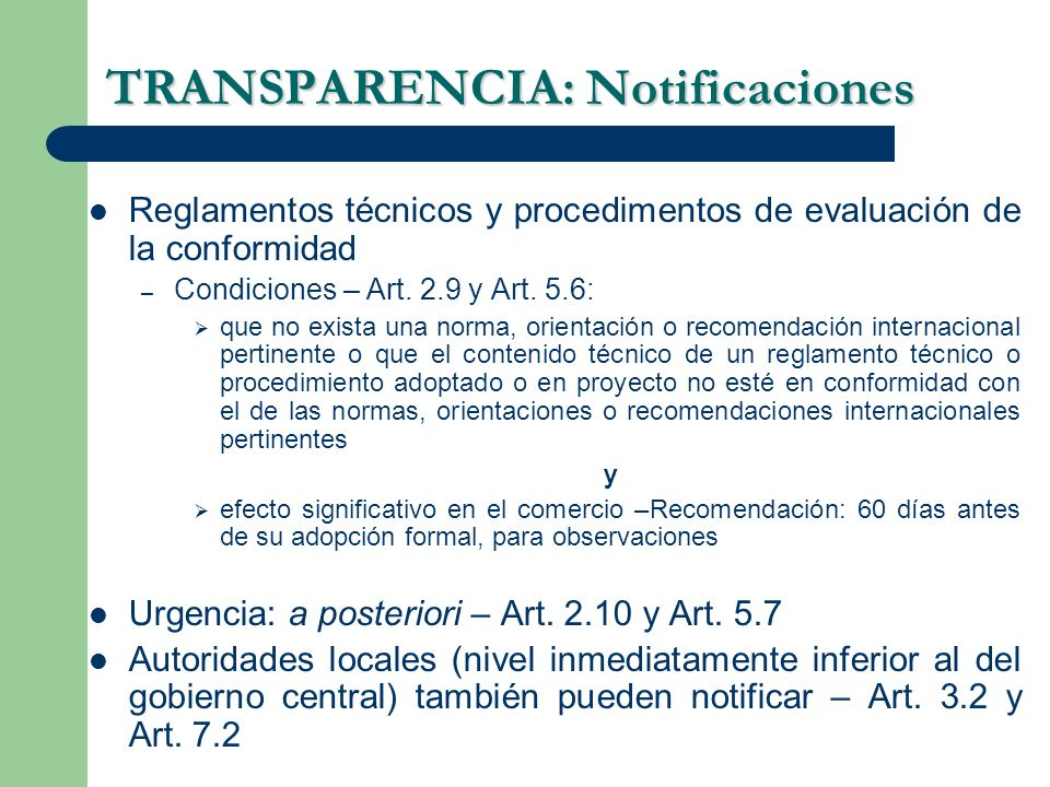 TRANSPARENCIA: Notificaciones