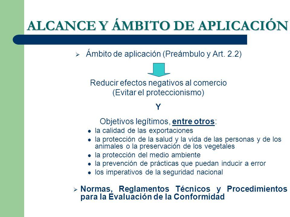 ALCANCE Y ÁMBITO DE APLICACIÓN