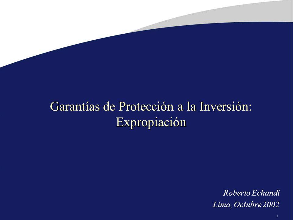 Garantías de Protección a la Inversión: Expropiación