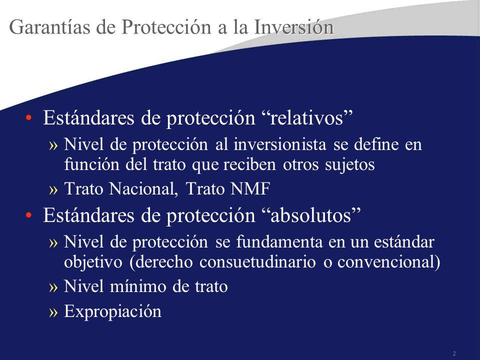 Garantías de Protección a la Inversión