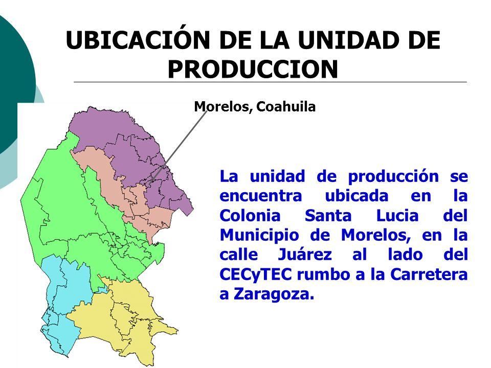 UBICACIÓN DE LA UNIDAD DE PRODUCCION