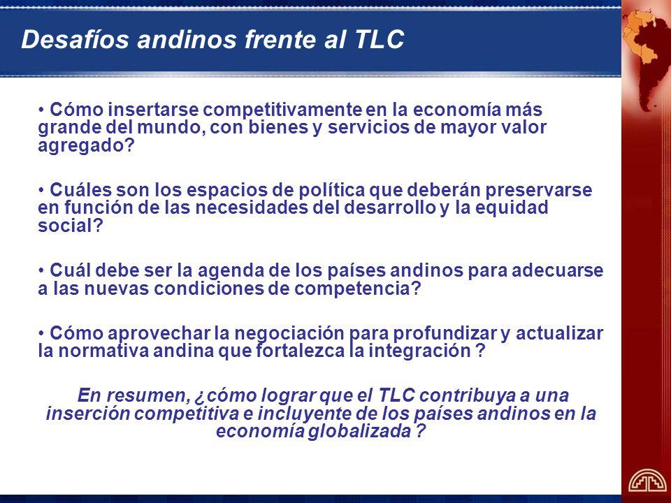 Desafíos andinos frente al TLC
