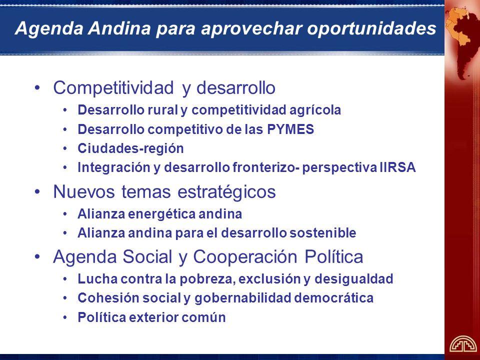 Agenda Andina para aprovechar oportunidades