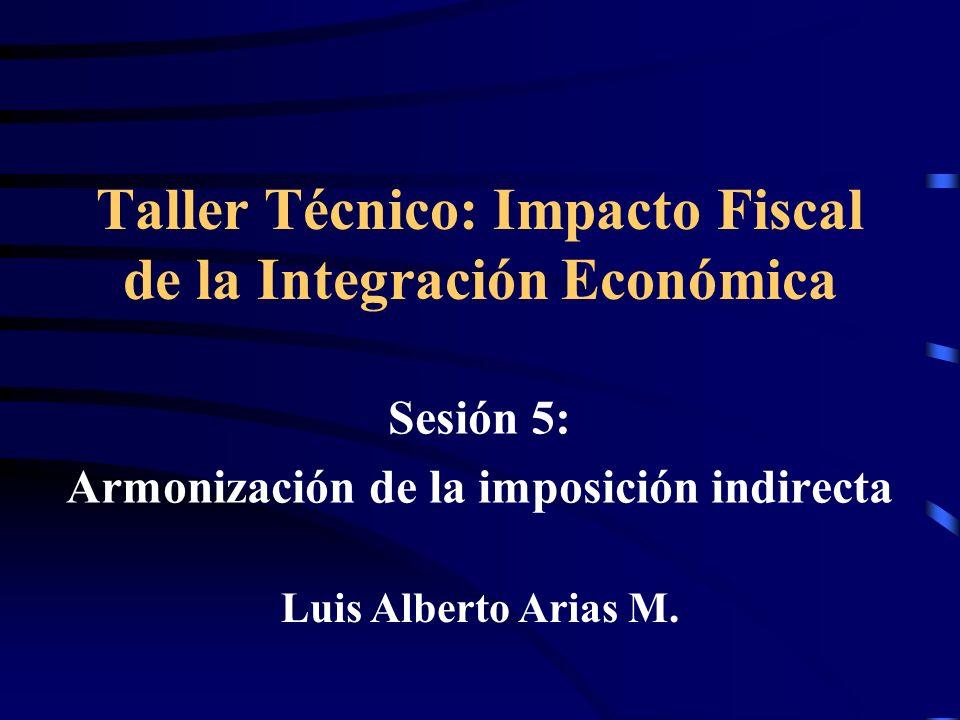 Taller Técnico: Impacto Fiscal de la Integración Económica
