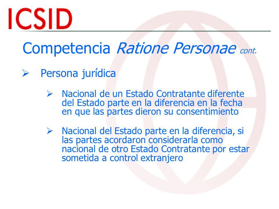 Competencia Ratione Personae cont.