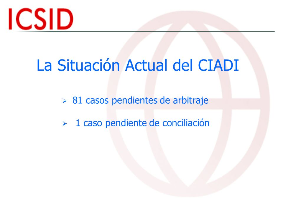 La Situación Actual del CIADI