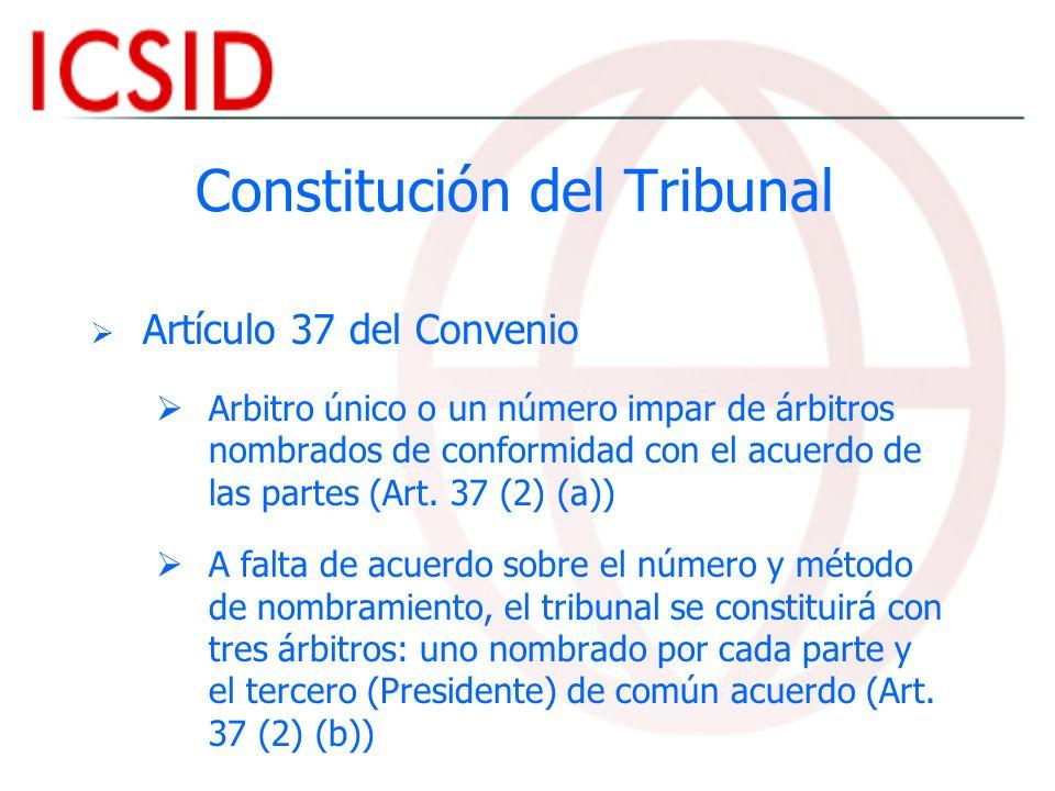 Constitución del Tribunal