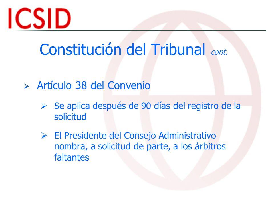 Constitución del Tribunal cont.