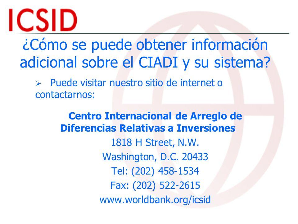 Centro Internacional de Arreglo de Diferencias Relativas a Inversiones