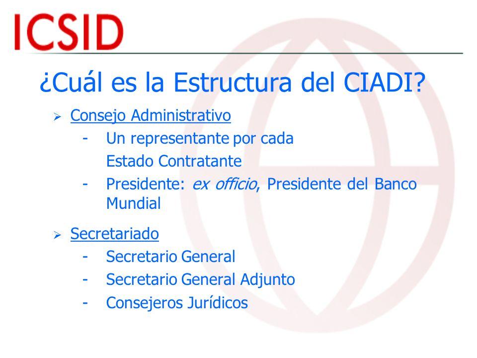 ¿Cuál es la Estructura del CIADI