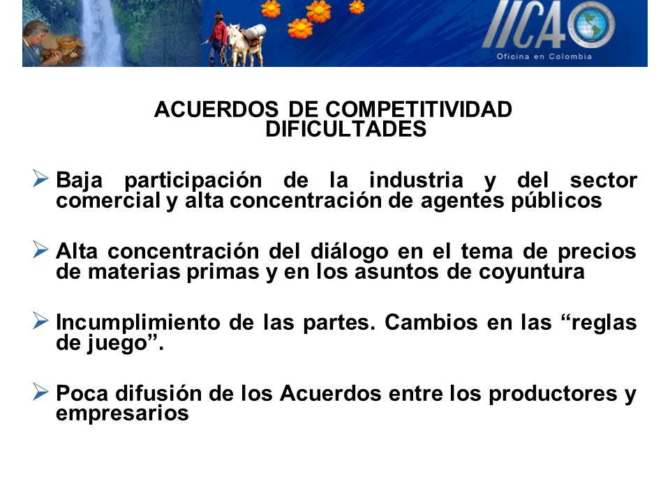 ACUERDOS DE COMPETITIVIDAD DIFICULTADES