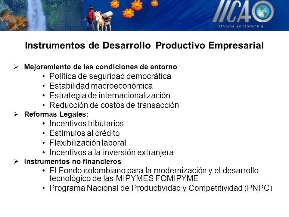 Instrumentos de Desarrollo Productivo Empresarial