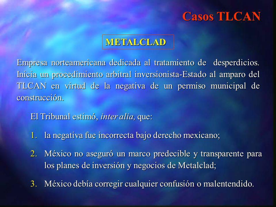 Casos TLCAN METALCLAD.