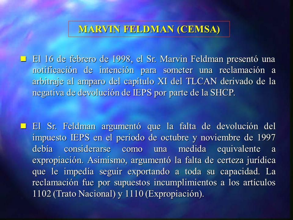 MARVIN FELDMAN (CEMSA)