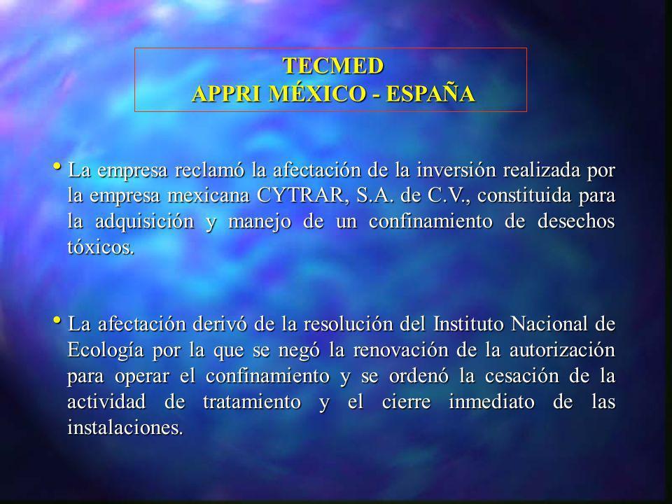TECMED APPRI MÉXICO - ESPAÑA