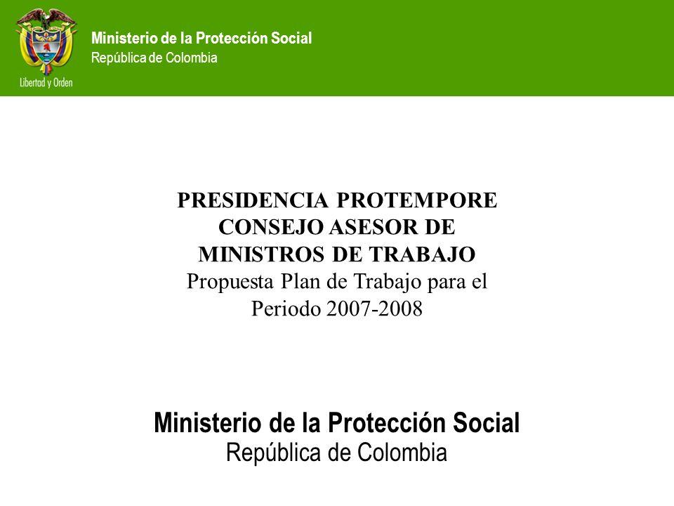 PRESIDENCIA PROTEMPORE CONSEJO ASESOR DE MINISTROS DE TRABAJO
