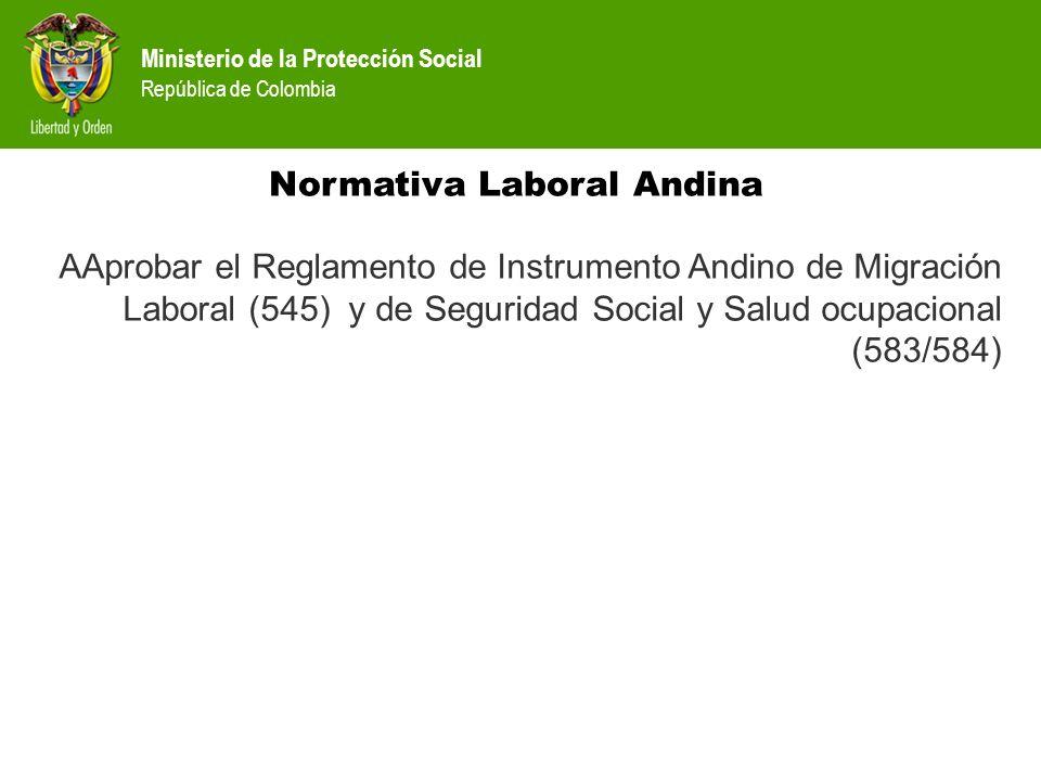 Normativa Laboral Andina