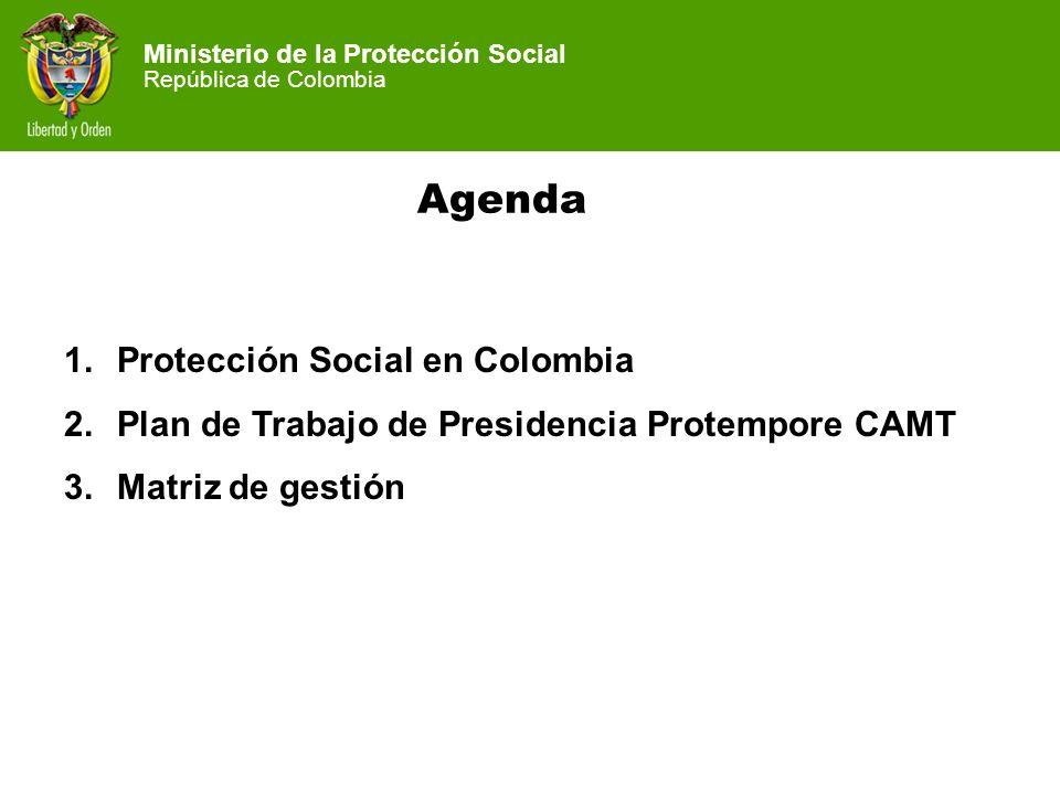 Agenda Protección Social en Colombia