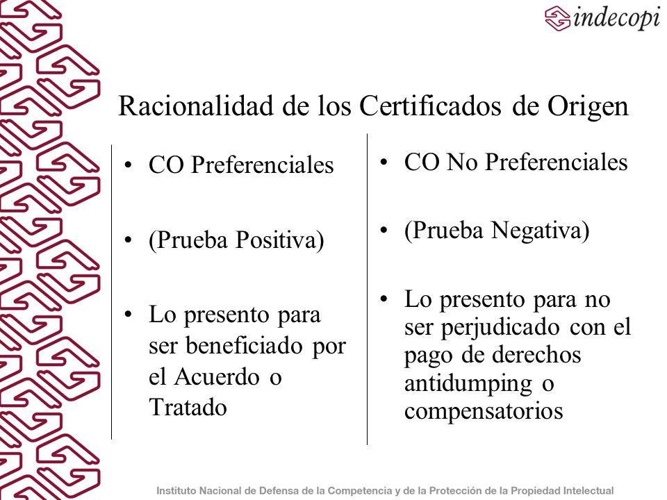 Racionalidad de los Certificados de Origen