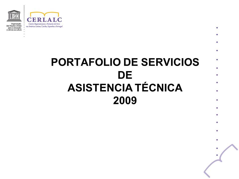 PORTAFOLIO DE SERVICIOS DE ASISTENCIA TÉCNICA 2009
