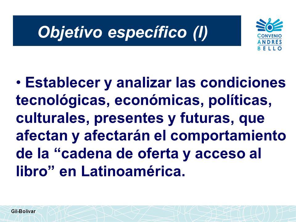 Objetivo específico (I)