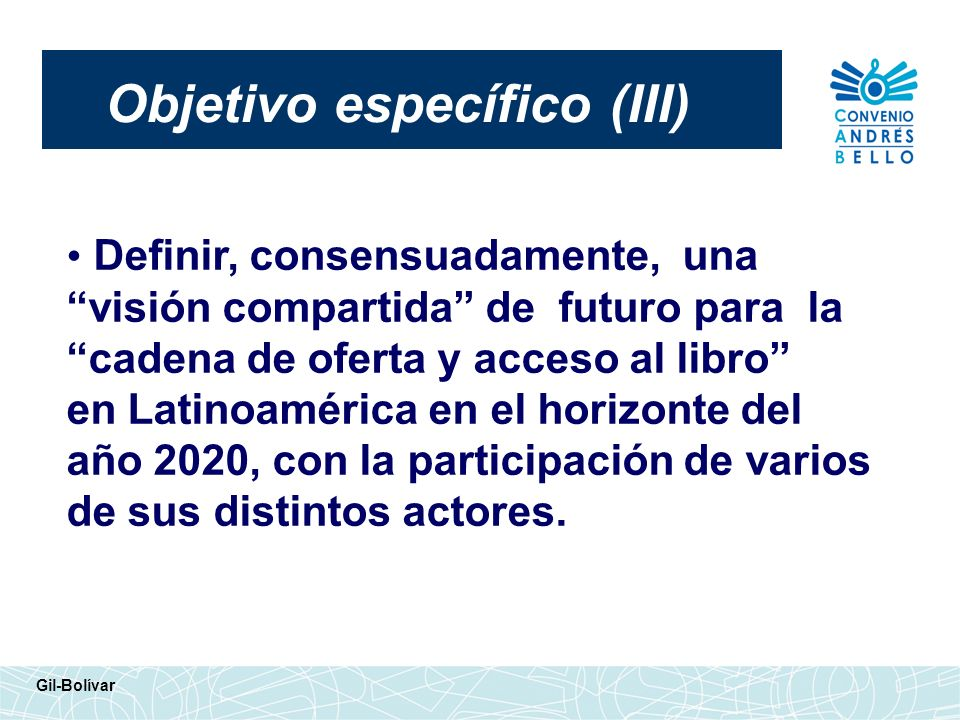 Objetivo específico (III)