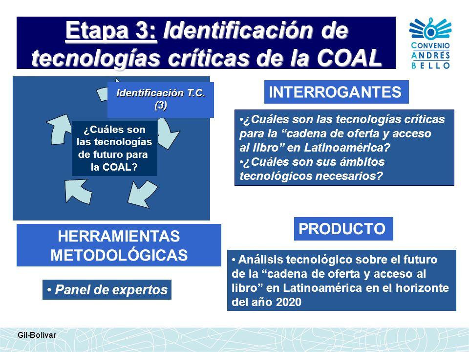 Etapa 3: Identificación de tecnologías críticas de la COAL