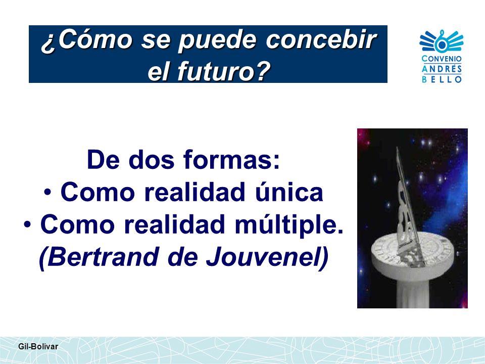 ¿Cómo se puede concebir el futuro
