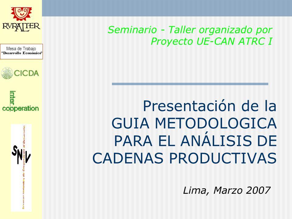 Seminario - Taller organizado por Proyecto UE-CAN ATRC I