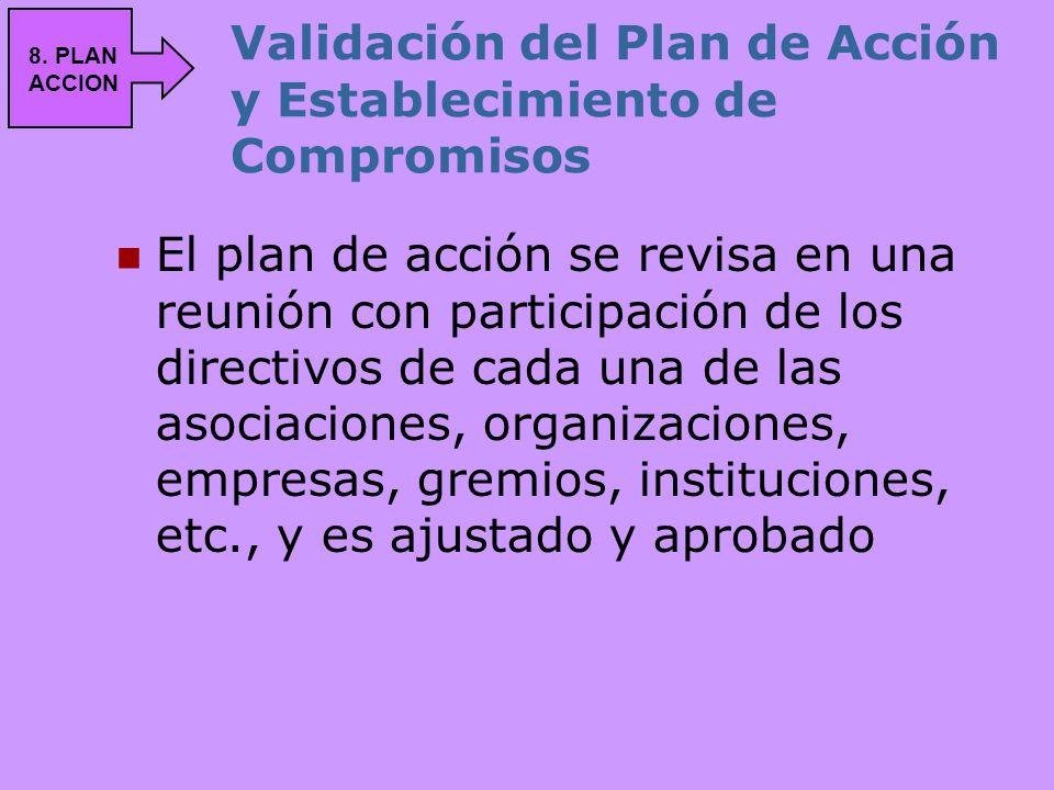 Validación del Plan de Acción y Establecimiento de Compromisos