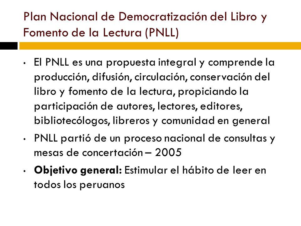 Plan Nacional de Democratización del Libro y Fomento de la Lectura (PNLL)
