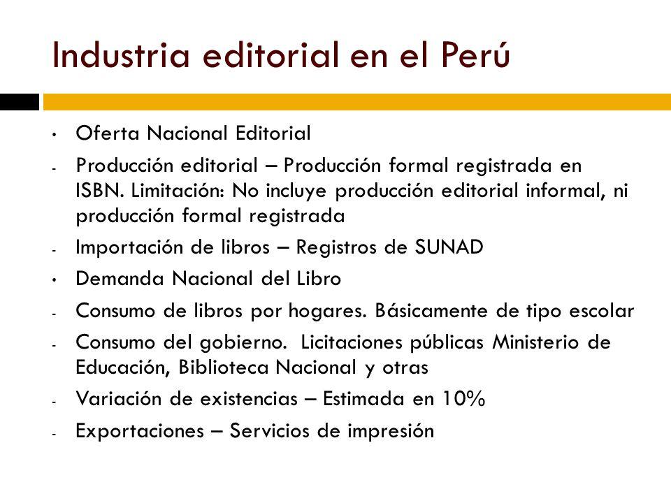 Industria editorial en el Perú
