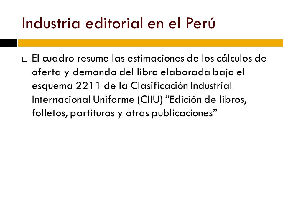 Industria editorial en el Perú