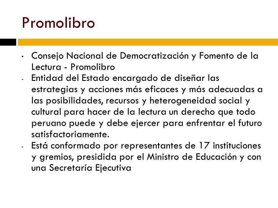 Promolibro Consejo Nacional de Democratización y Fomento de la Lectura - Promolibro.