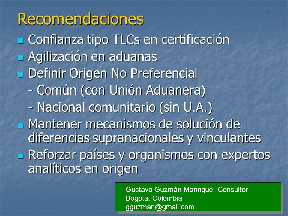 Recomendaciones Confianza tipo TLCs en certificación