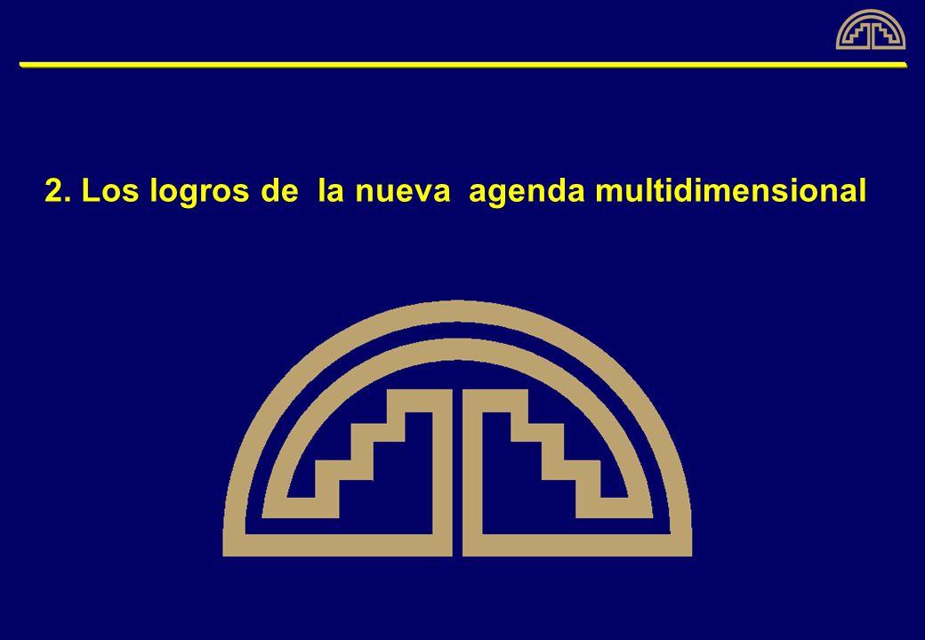 2. Los logros de la nueva agenda multidimensional