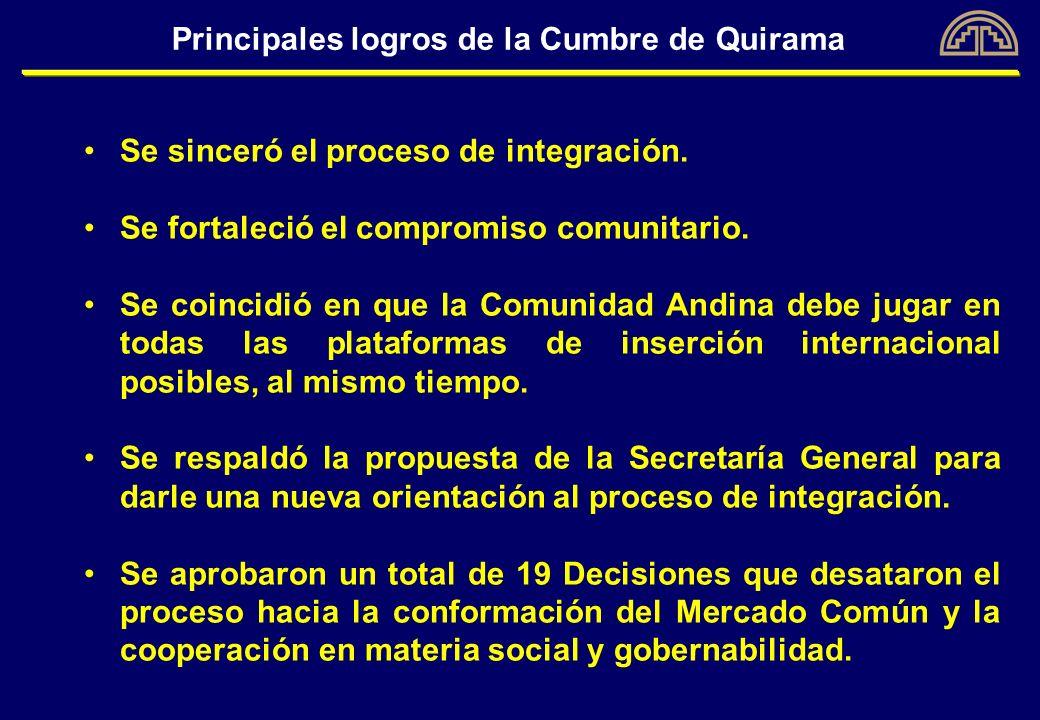 Principales logros de la Cumbre de Quirama