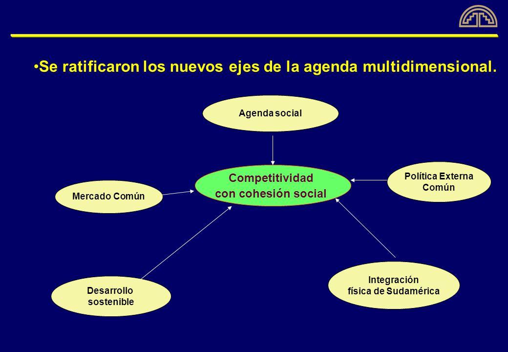Se ratificaron los nuevos ejes de la agenda multidimensional.