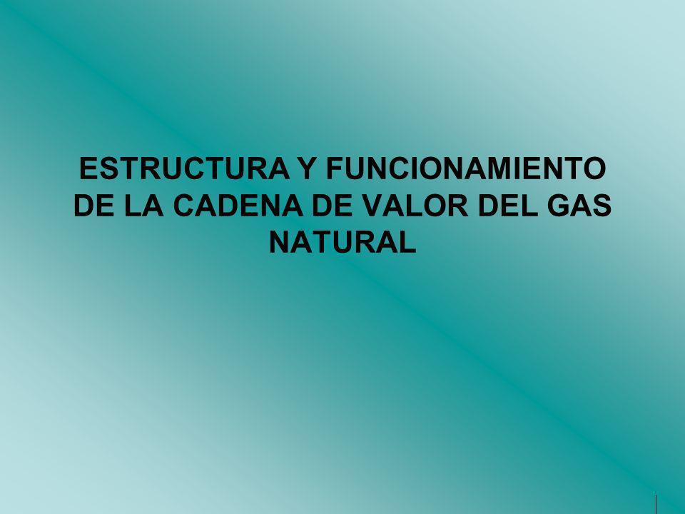 ESTRUCTURA Y FUNCIONAMIENTO DE LA CADENA DE VALOR DEL GAS NATURAL
