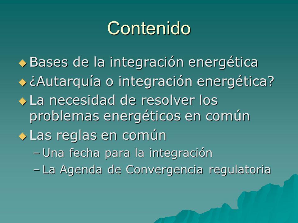 Contenido Bases de la integración energética
