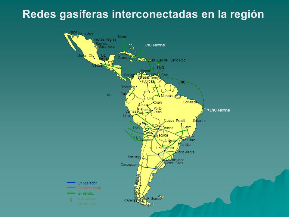 Redes gasíferas interconectadas en la región