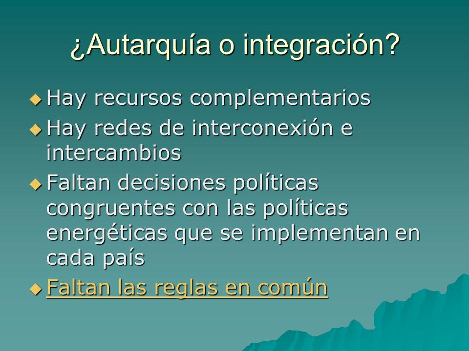 ¿Autarquía o integración