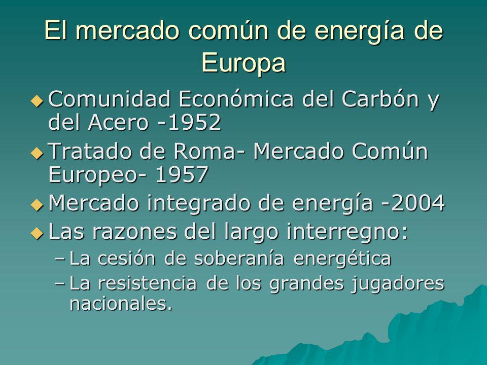 El mercado común de energía de Europa