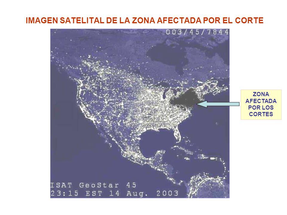 IMAGEN SATELITAL DE LA ZONA AFECTADA POR EL CORTE