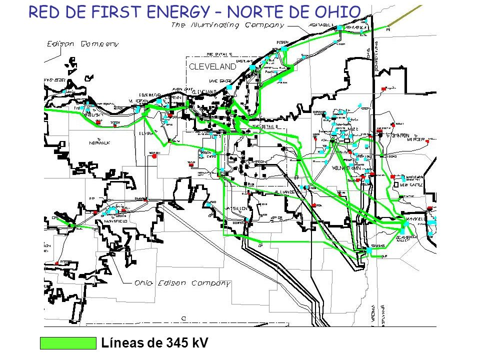 RED DE FIRST ENERGY – NORTE DE OHIO